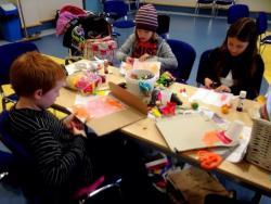 Making puppets at the North Coast Meet Ip